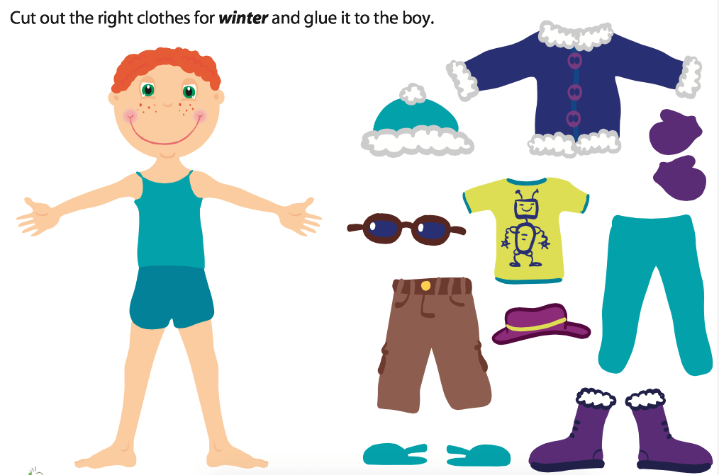 Printable winter clothes