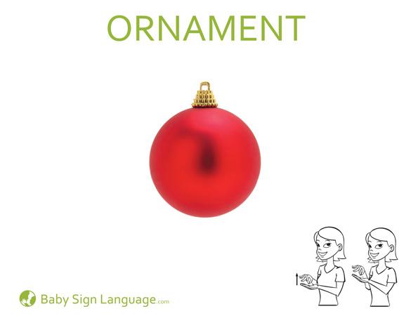 ornament christmas baby sign language