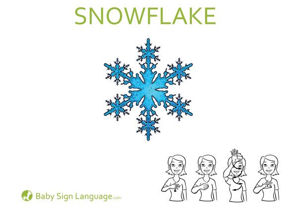 snowflake Christmas Baby Sign Language