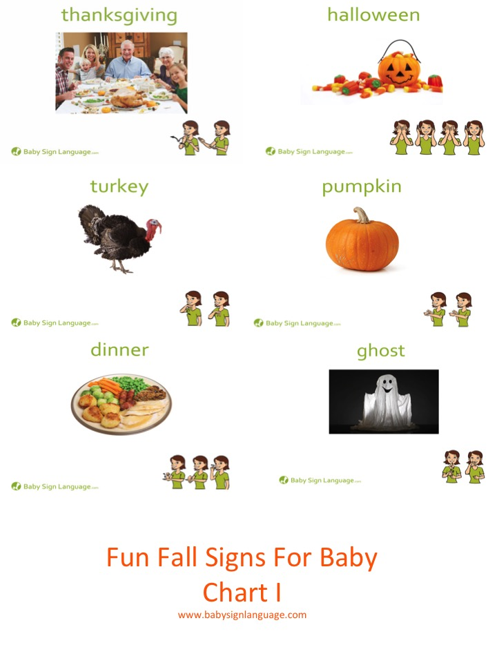 Fun Baby Signs For Fall Chart I Printable
