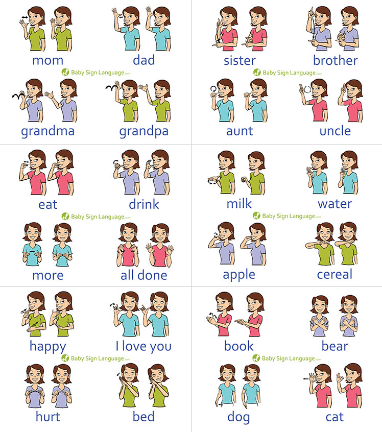 Baby Sign Language Chart (self-print version)