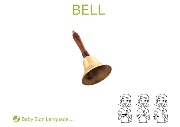 bell Baby Sign Language Flash card