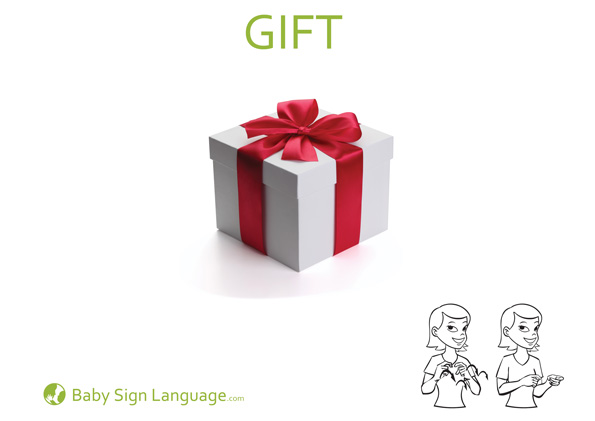 Gift Baby Sign Language Flash Card