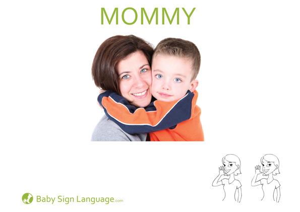 Mommy Baby Sign Language Flash Card