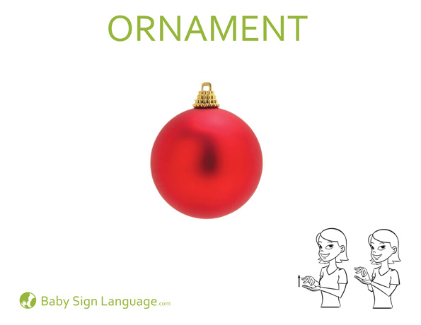 Ornament Baby Sign Language Flash Card