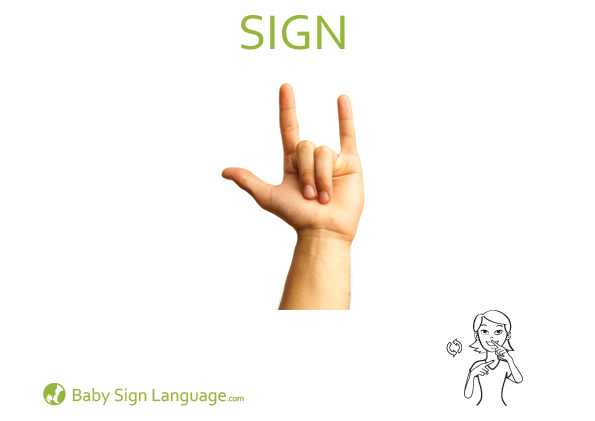 Sign Baby Sign Language Flash card