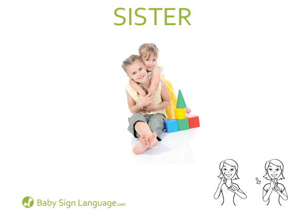 Sister Baby Sign Language Flash card