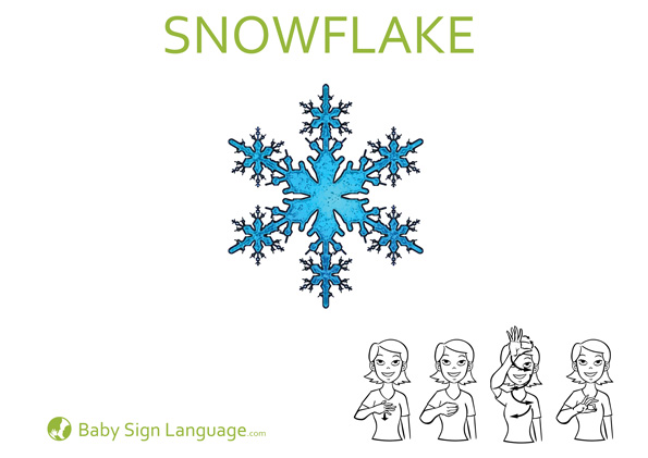 Snowflake Baby Sign Language Flash Card