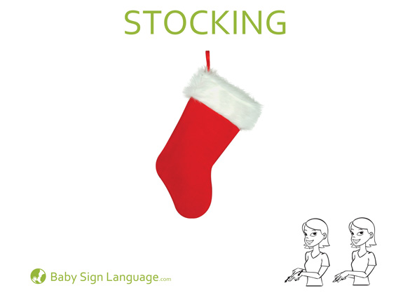 Stocking Baby Sign Language Flash Card