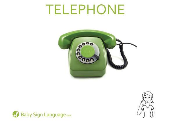 Telephone Baby Sign Language Flash card