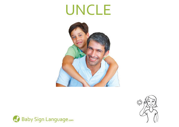 Uncle Baby Sign Language Flash card