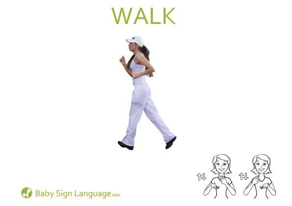 Walk Baby Sign Language Flash card