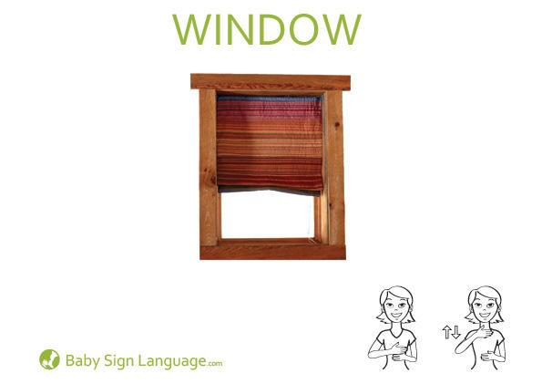 Window Baby Sign Language Flash card