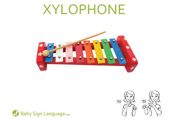 Wagon Baby Sign Language Flash card