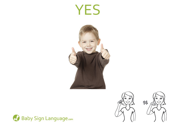 Yes Baby Sign Language Flash card