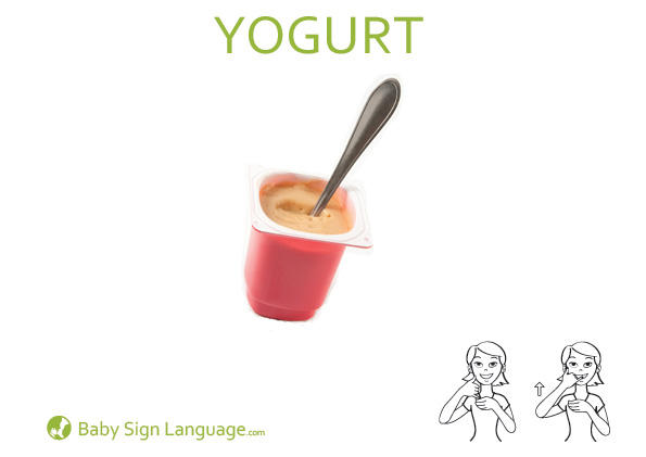 Yogurt Baby Sign Language Flash card